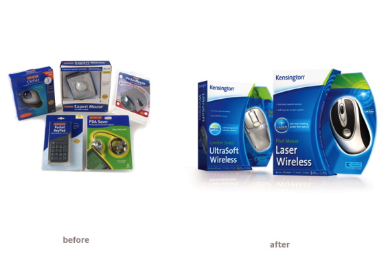 consumer electronics accessories packaging design kensington