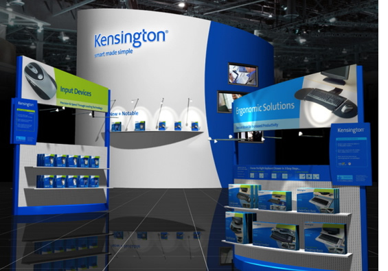 consumer electronics accessories tradeshow booth design - kensington