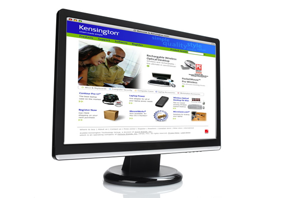 consumer electronics and accessories website design - kensington