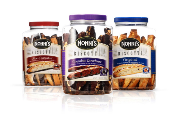 Murray Brand: Nonni's Biscotti Club Store Package Design