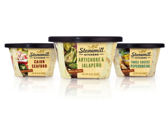 Murray Brand packagaging design for private label dip tubs.
