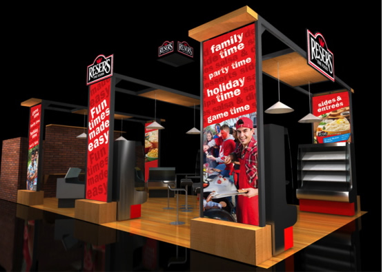 Murray Brand: reser's tradeshow booth design pop